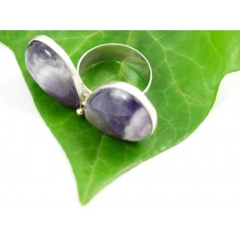 Sterling silver ring Amethyst Gourmandize
