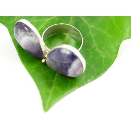 Sterling silver ring Amethyst Gourmandize, Bijuterii de argint lucrate manual, handmade