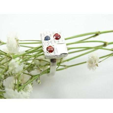 Sterling silver engagement ring LoveParticles, Bijuterii de argint lucrate manual, handmade