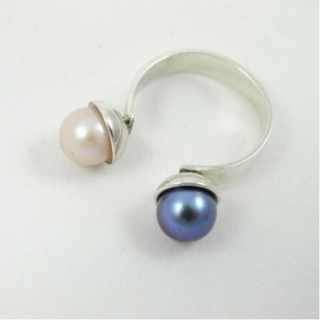 Sterling silver engagement ring Kindred Souls, Bijuterii de argint lucrate manual, handmade