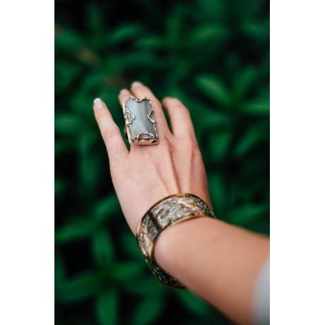 Silver ring with agate, Bijuterii de argint lucrate manual, handmade