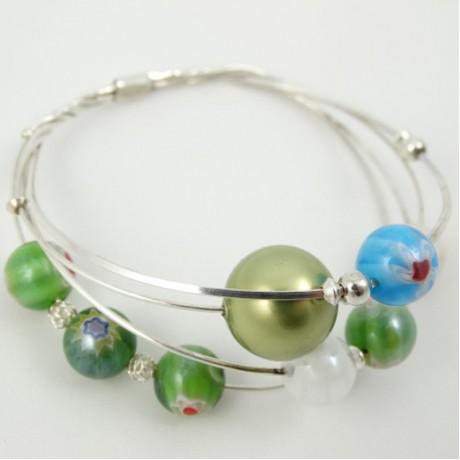 Sterling silver bracelet Love Lace, Bijuterii de argint lucrate manual, handmade