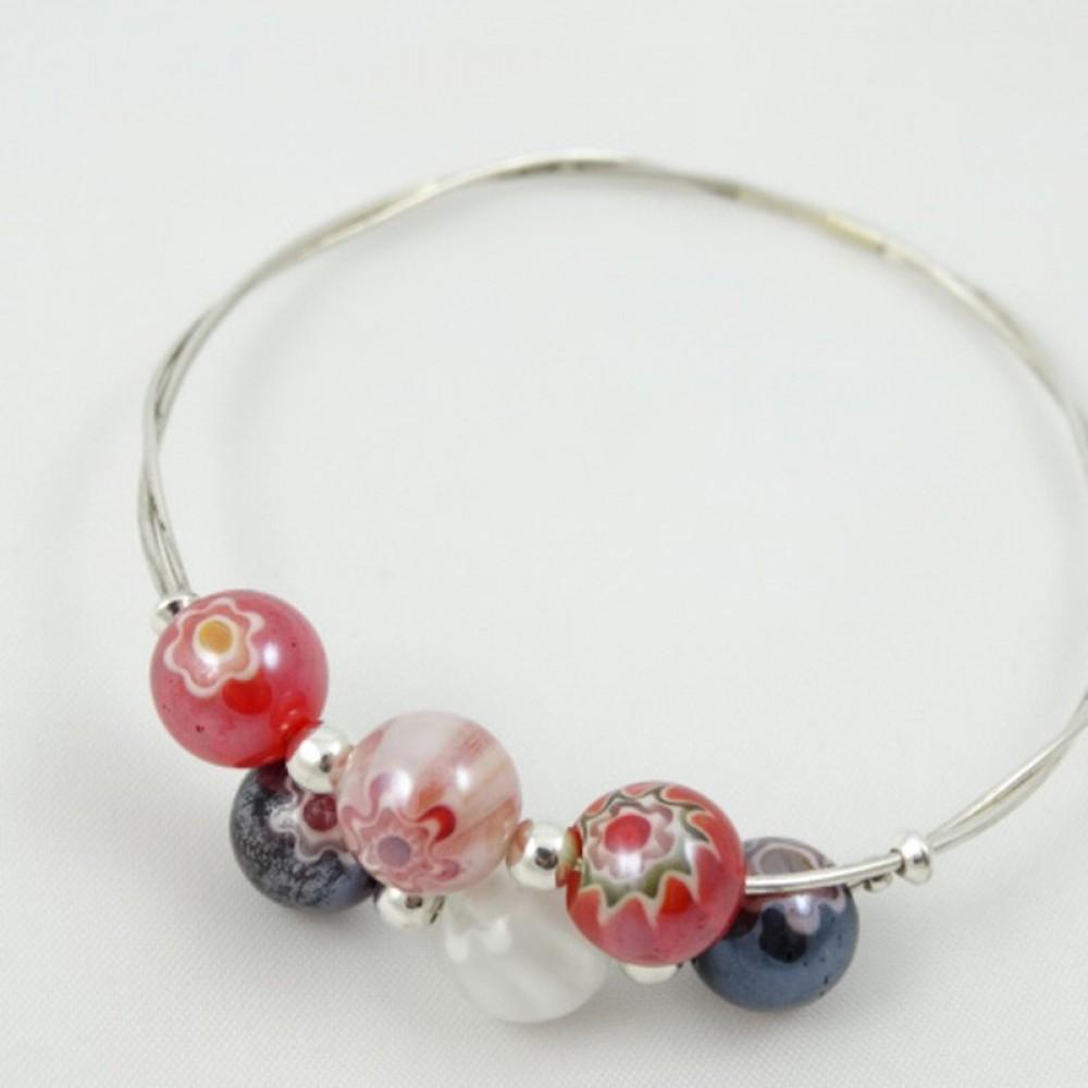 Sterling silver bracelet Love Line