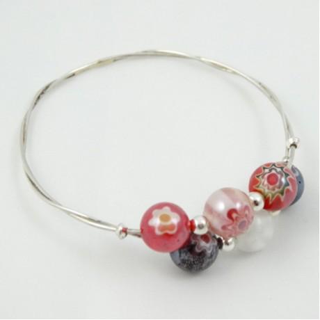 Sterling silver bracelet Love Line, Bijuterii de argint lucrate manual, handmade