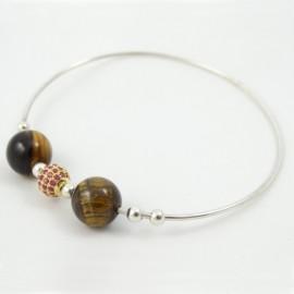 Sterling silver bracelet Love Fabric