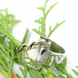 Sterling silver ring Love Setting
