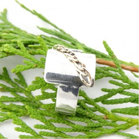 Sterling silver ring Love Setting, Bijuterii de argint lucrate manual, handmade