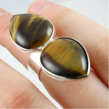 Sterling silver ring Darting towards Love in&from both directions - Ianus bifrons , Bijuterii de argint lucrate manual, handmade