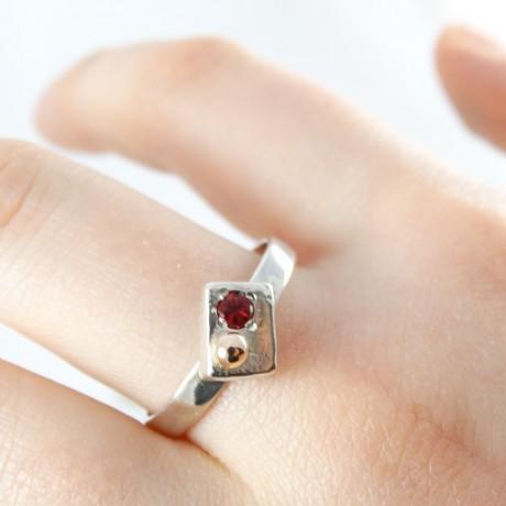 Sterling silver engagement ring LoveStock, Bijuterii de argint lucrate manual, handmade