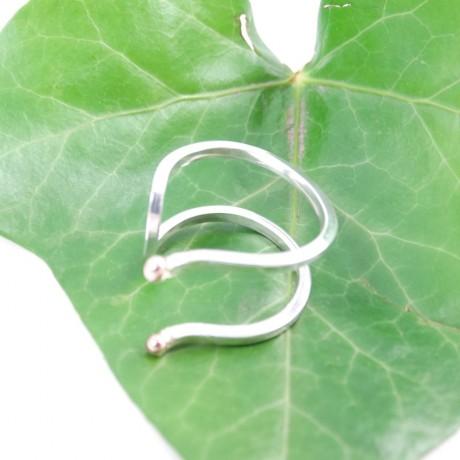 Sterling silver engagement ring LoveWires, Bijuterii de argint lucrate manual, handmade
