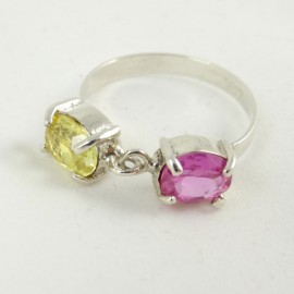 Sterling silver engagement ring Bare-Hearted