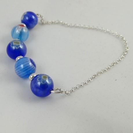 Sterling silver bracelet Love Chain, Bijuterii de argint lucrate manual, handmade