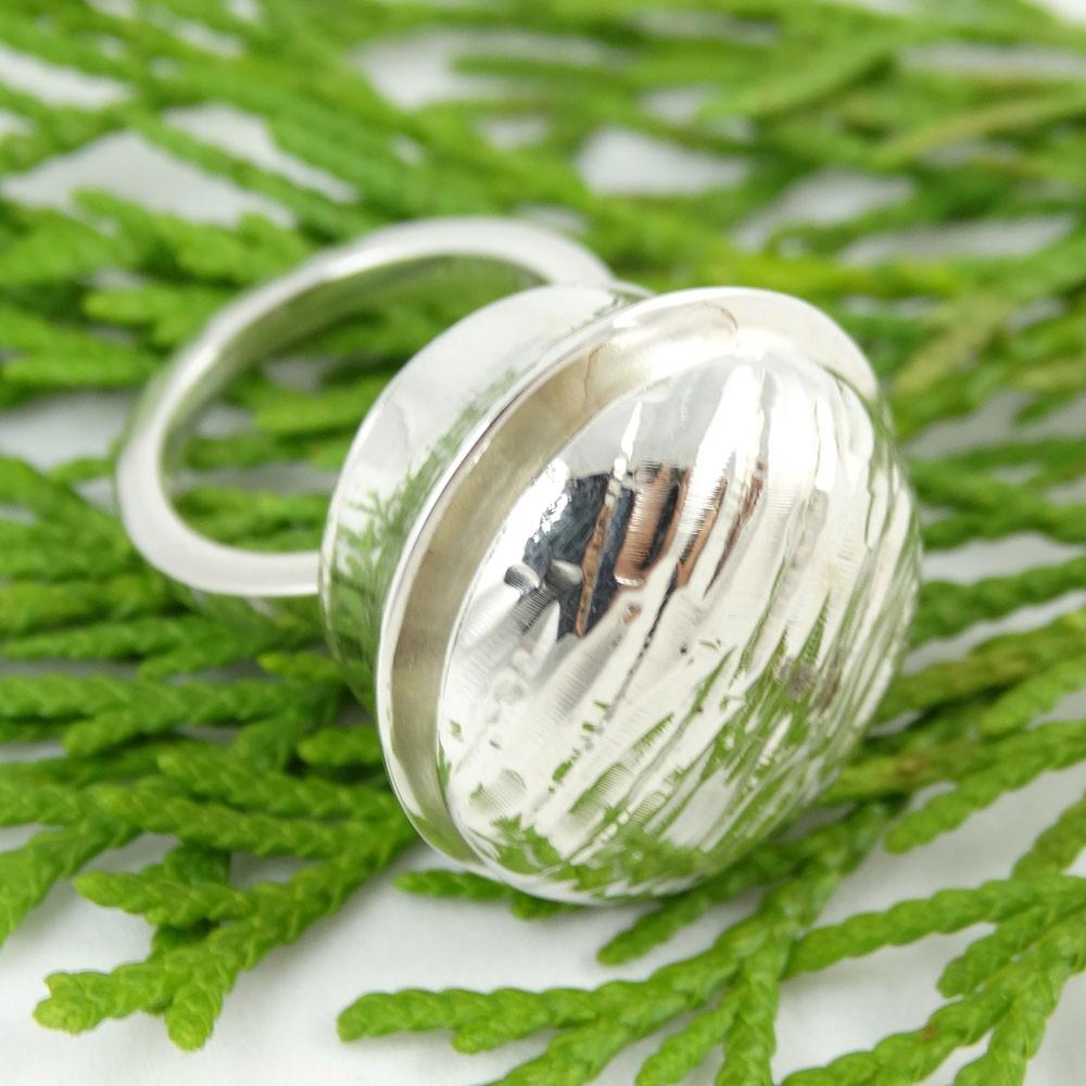 Sterling silver ring Soft Eruption