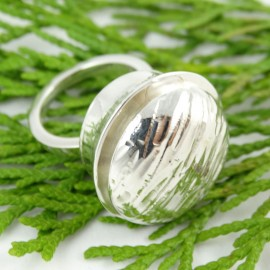 Sterling silver ring Soft Eruption, Bijuterii de argint lucrate manual, handmade