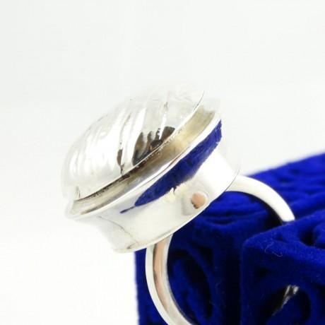 Sterling silver ring Soft Eruption, Bijuterii de argint lucrate manual, handmade