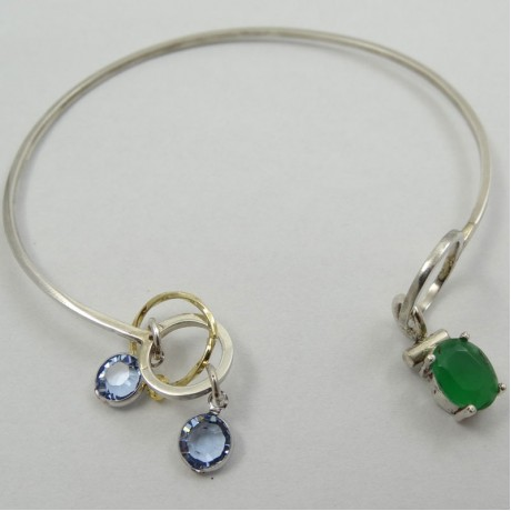 Sterling silver bracelet Softie, Bijuterii de argint lucrate manual, handmade