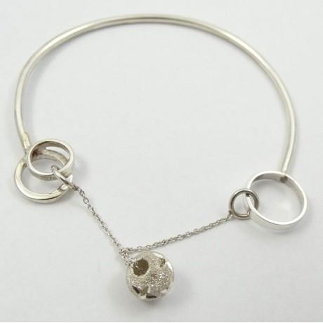 Sterling silver bracelet LoveRub, Bijuterii de argint lucrate manual, handmade