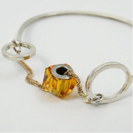 Sterling silver bracelet Wonder Soiree, Bijuterii de argint lucrate manual, handmade