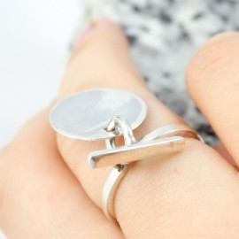 Sterling silver ring Calls for Joy