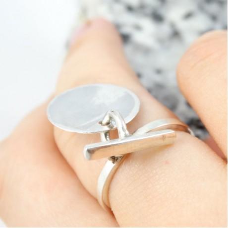 Sterling silver ring Calls for Joy, Bijuterii de argint lucrate manual, handmade
