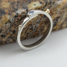Sterling silver engagement ring Love Infusion