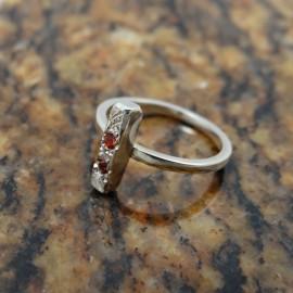 Inel logodna LoveHook, Bijuterii de argint lucrate manual, handmade