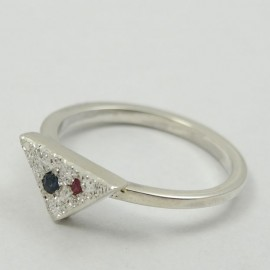 Sterling silver engagement ring Love On&On