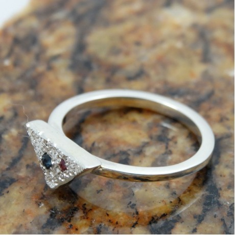 Sterling silver engagement ring Love On&On, Bijuterii de argint lucrate manual, handmade
