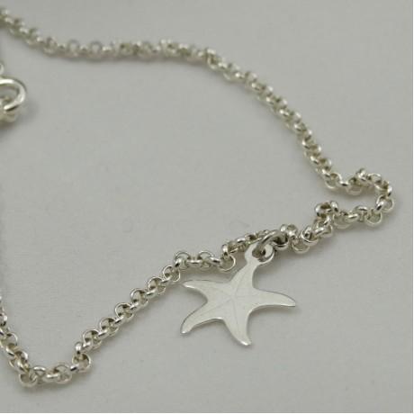 Sterling silver bracelet Starriness, Bijuterii de argint lucrate manual, handmade