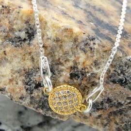Sterling silver bracelet Golden Talisman