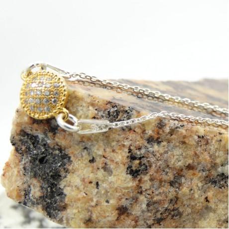 Sterling silver bracelet Golden Talisman, Bijuterii de argint lucrate manual, handmade