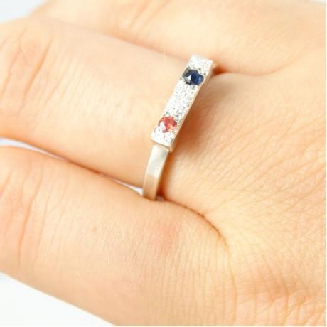 Sterling silver engagement ring Muse, Bijuterii de argint lucrate manual, handmade