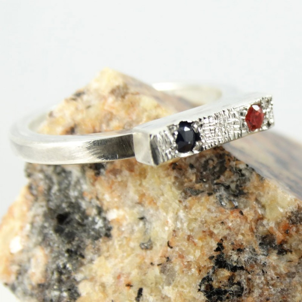 Sterling silver engagement ring Muse