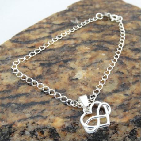 Sterling silver bracelet Love Fuel, Bijuterii de argint lucrate manual, handmade