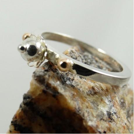 Sterling silver engagement ring Crossroads, Bijuterii de argint lucrate manual, handmade