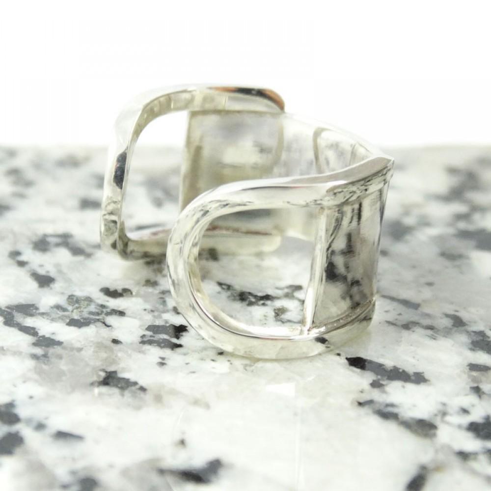 Sterling silver ring Geometricata