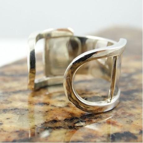 Sterling silver ring Geometricata, Bijuterii de argint lucrate manual, handmade