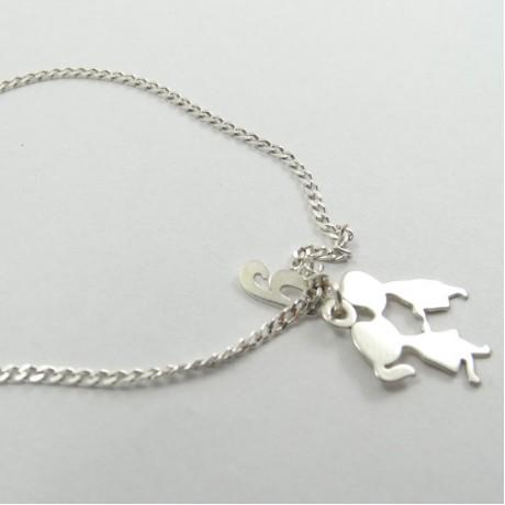 Sterling silver bracelet Girls&Boys, Bijuterii de argint lucrate manual, handmade