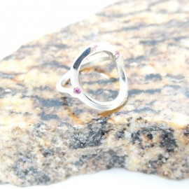Sterling silver ring Fluid Trims