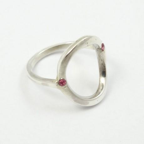 Sterling silver ring Fluid Trims, Bijuterii de argint lucrate manual, handmade