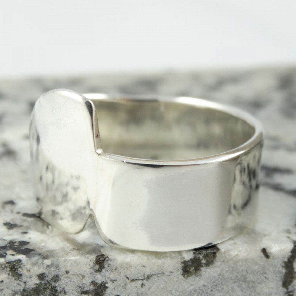 Sterling silver ring Iregularium