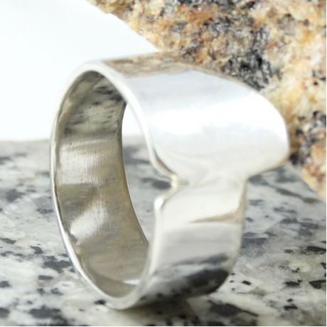 Sterling silver ring Iregularium, Bijuterii de argint lucrate manual, handmade