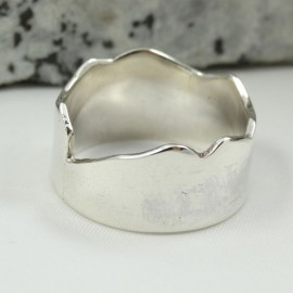Sterling silver ring Hooked, for men