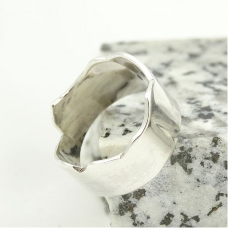 Sterling silver ring Hooked, for men, Bijuterii de argint lucrate manual, handmade
