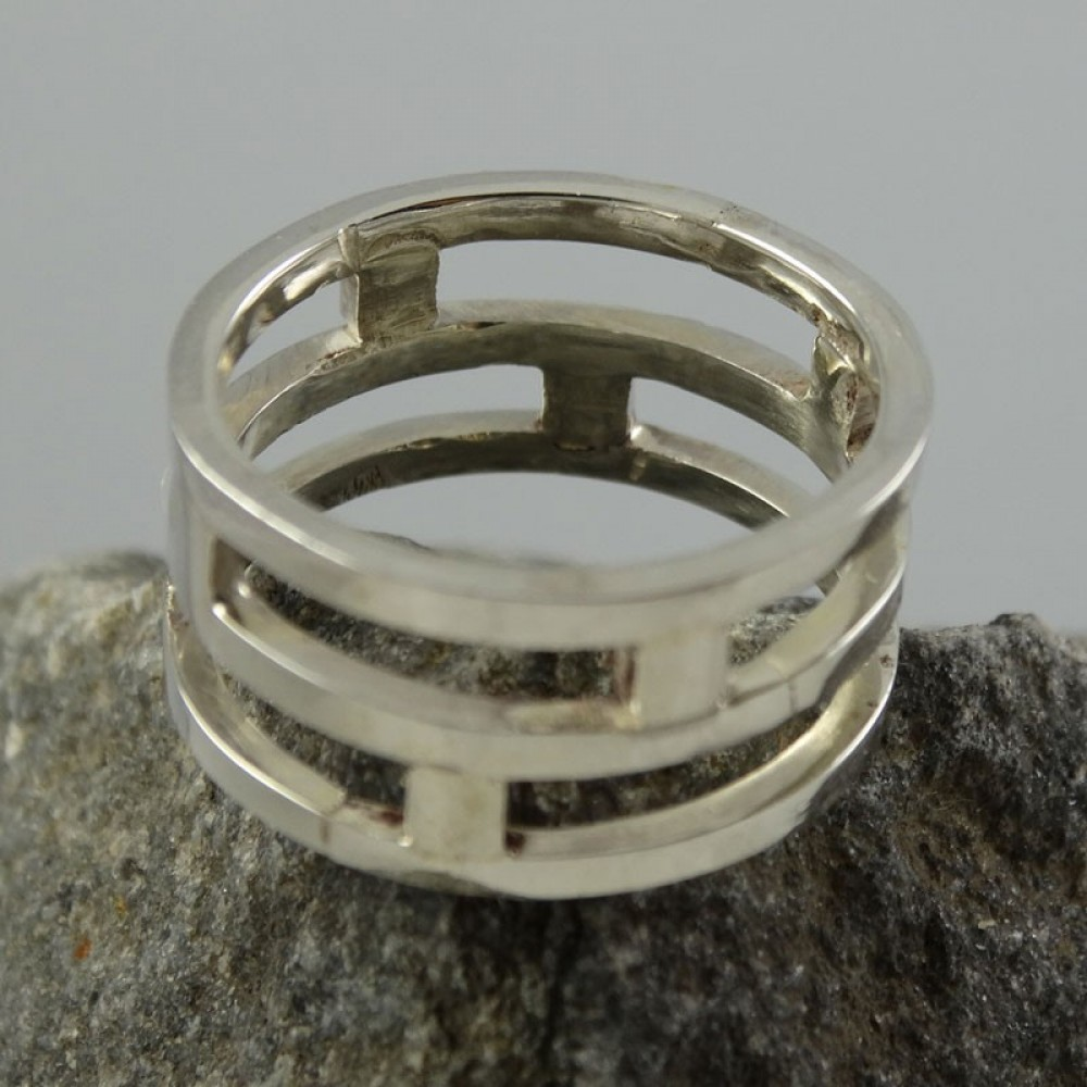 Sterling silver ring Hyphen