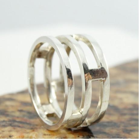 Sterling silver ring Hyphen, Bijuterii de argint lucrate manual, handmade