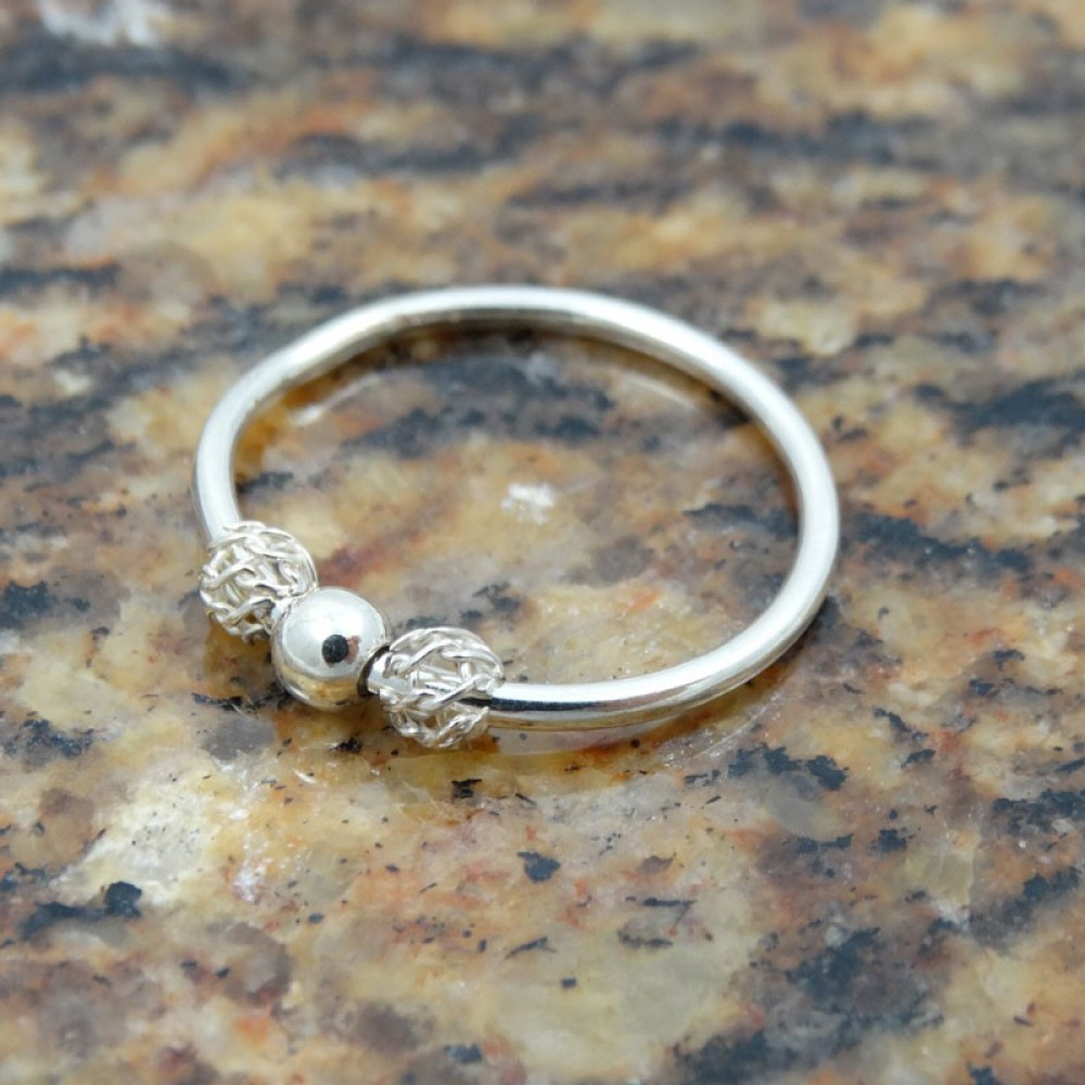 Sterling silver ring Dreamy Wraps