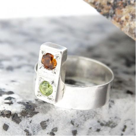 Sterling silver ring Summer Trove, Bijuterii de argint lucrate manual, handmade