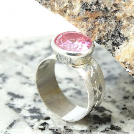 Sterling silver engagement ring Love Flavour, Bijuterii de argint lucrate manual, handmade