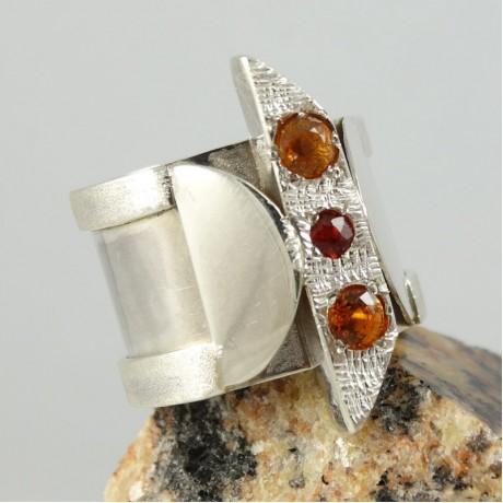 Sterling silver ring Iridescent, Bijuterii de argint lucrate manual, handmade